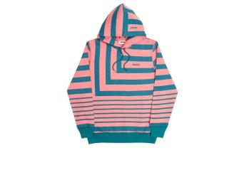 ANGLO HOODY PINK/GREEN
